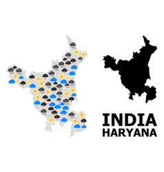 Weather mosaic map haryana state vector