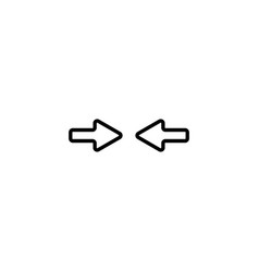 web line icon left and right arrows vector image