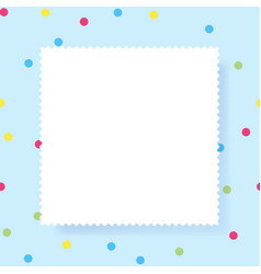 white empty paper rectangle with copy space for vector image
