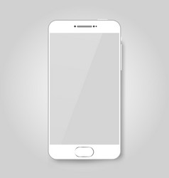 White mobile smart phone mock up game design vector