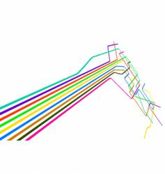 colored lines vector image