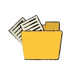 drawing folder file document information vector image
