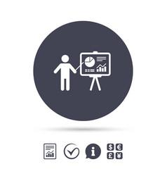presentation billboard sign icon diagram symbol vector image