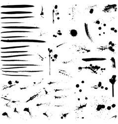 Abstract background ink paint splats vector image vector image
