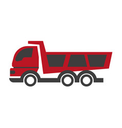 haul or dump truck logo icon dumper and tipper vector image vector image