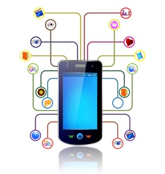 mobile icons vector image vector image
