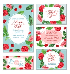 Rose Flower Banners vector image vector image