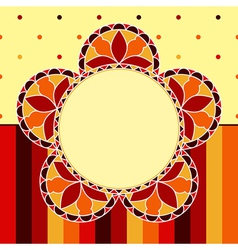 Stained Glass Flower Card vector image