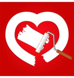 white heart vector image