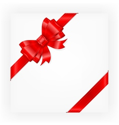 big red gift bow vector image vector image