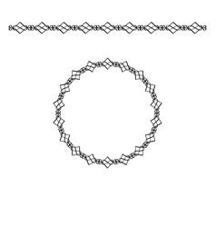 black border and circle frame vector image