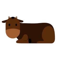 cute cow icon vector image