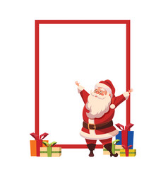 design for xmas poster with christmas santa claus vector image vector image