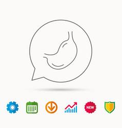 Stomach icon gastroscopy health sign vector