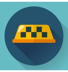 Taxi icon Flat designed vector image vector image