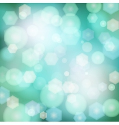 Abstract background with bokeh lights vector image