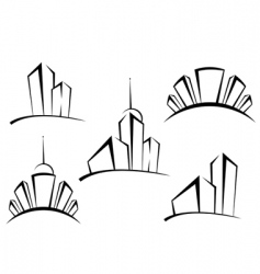 buildings symbols vector image vector image