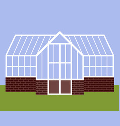 greenhouse with glass walls vector image