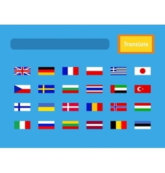 interface of mobile translator application vector image