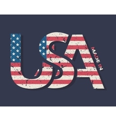 Made in the USA typography design t-shirt vector image vector image