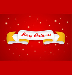 merry christmas design with trendy retro style vector image