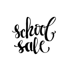 School sale poster with lettering vector image