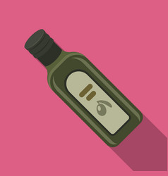 A bottle of olive oilolives single icon in flat vector