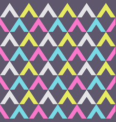 abstract seamless pattern triangular elements vector image