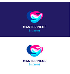 Abstract waves logo bridght splashes logo vector