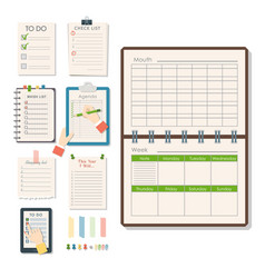 Agenda list business paper clipboard in vector