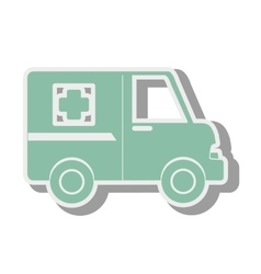 Ambulance emergency van vector