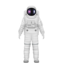 Astronaut realistic space travelers professional vector