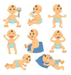 baby toddler child flat character isolated vector image