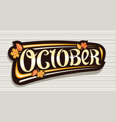 Banner for october vector