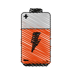Battery cartoon doodle vector