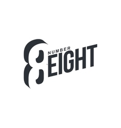 Black and white number eightx diagonal logo vector image