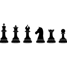Black chess pieces vector image