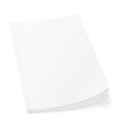 Blank template cover of book booklet brochure vector