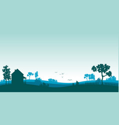 Blue landscape vector