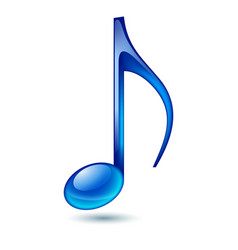 blue music note isolated on white background vector image