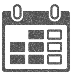 Calendar Week Grainy Texture Icon vector