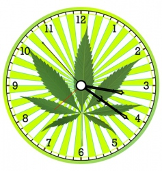 cannabis clock vector image