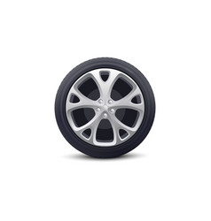 car wheel isolated object realistic vector image