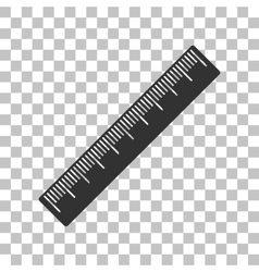 Centimeter ruler sign Dark gray icon on vector image