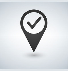 check point creative symbol concept global vector image