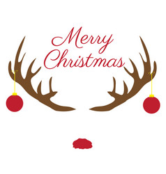 christmas antlers with red nose vector image