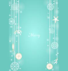 christmas sea mobile hanging vector image