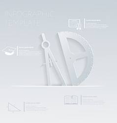 Compass and protractor template graphic or vector