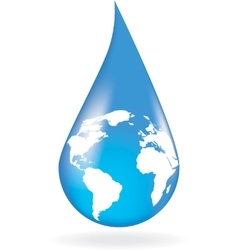 Concept of save of water vector image