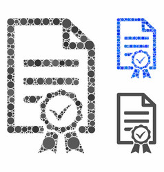 Contract document composition icon spheric vector